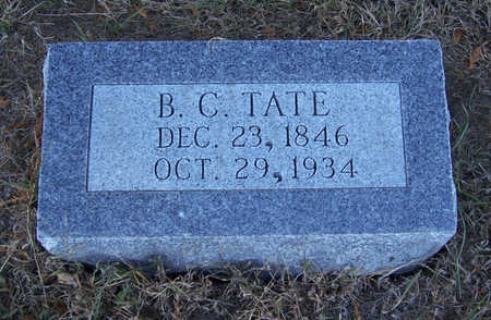 TATE, B. C. - Shelby County, Iowa | B. C. TATE