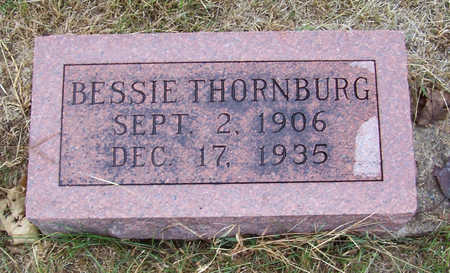 THORNBURG, BESSIE - Shelby County, Iowa | BESSIE THORNBURG