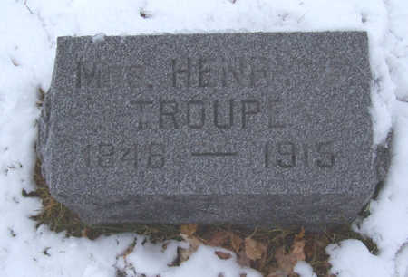TROUPE, MRS. HENRY - Shelby County, Iowa | MRS. HENRY TROUPE