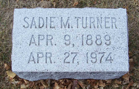 TURNER, SADIE M. - Shelby County, Iowa | SADIE M. TURNER