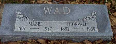 WAD, THORVALD - Shelby County, Iowa | THORVALD WAD