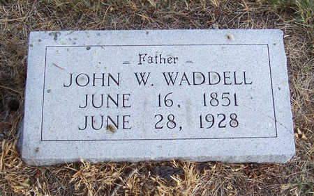 WADDELL, JOHN W. (FATHER) - Shelby County, Iowa | JOHN W. (FATHER) WADDELL
