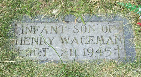 WAGEMAN, INFANT SON - Shelby County, Iowa | INFANT SON WAGEMAN