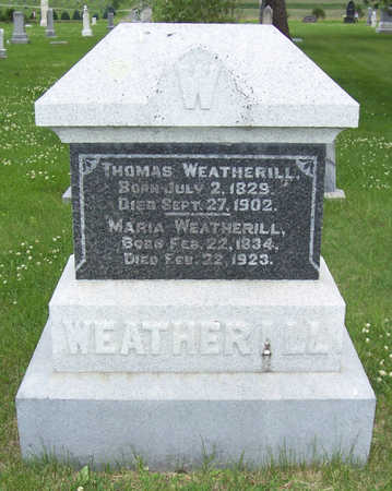 WEATHERILL, THOMAS - Shelby County, Iowa | THOMAS WEATHERILL