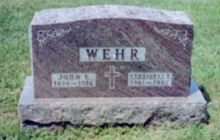 WEHR, JOHN EDWARD - Shelby County, Iowa   JOHN EDWARD WEHR