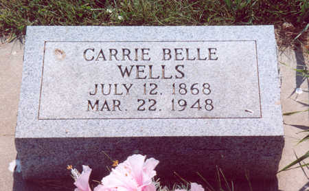 WELLS, CARRIE BELLE - Shelby County, Iowa | CARRIE BELLE WELLS