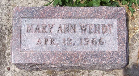 WENDT, MARY ANN - Shelby County, Iowa | MARY ANN WENDT
