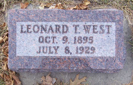 WEST, LEONARD T. - Shelby County, Iowa | LEONARD T. WEST