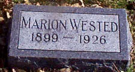 WESTED, MARION - Shelby County, Iowa | MARION WESTED