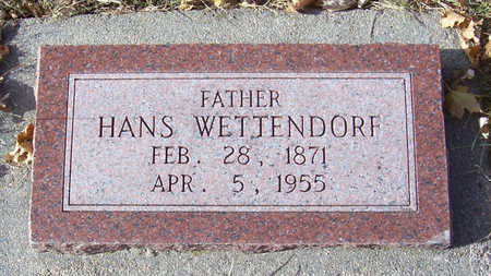 WETTENDORF, HANS (FATHER) - Shelby County, Iowa | HANS (FATHER) WETTENDORF