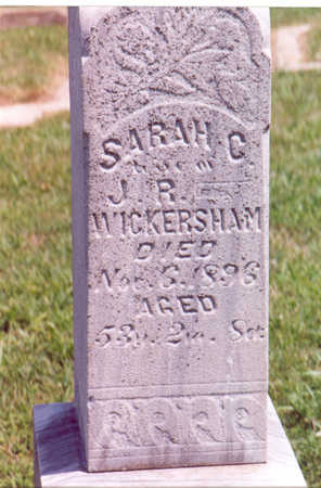 WICKERSHAM, SARAH C. - Shelby County, Iowa | SARAH C. WICKERSHAM