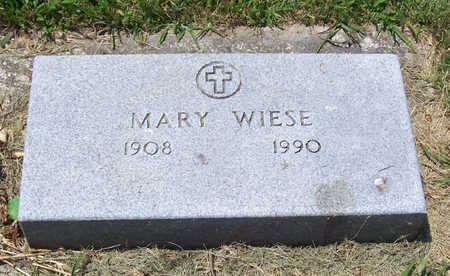 WIESE, MARY - Shelby County, Iowa | MARY WIESE