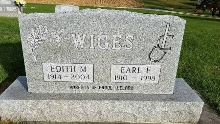 WIGES, EARL F. - Shelby County, Iowa | EARL F. WIGES