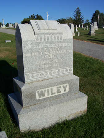 WILEY, J. F. - Shelby County, Iowa | J. F. WILEY