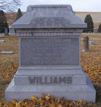 WILLIAMS, GEORGE MILES - Shelby County, Iowa | GEORGE MILES WILLIAMS