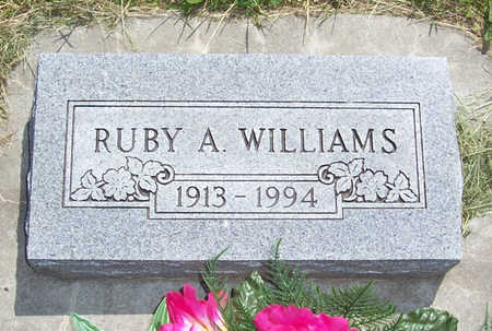 WILLIAMS, RUBY A. - Shelby County, Iowa | RUBY A. WILLIAMS