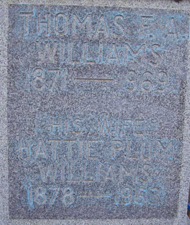 WILLIAMS, HATTIE - Shelby County, Iowa | HATTIE WILLIAMS