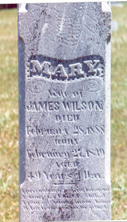 WILSON, MARY - Shelby County, Iowa | MARY WILSON