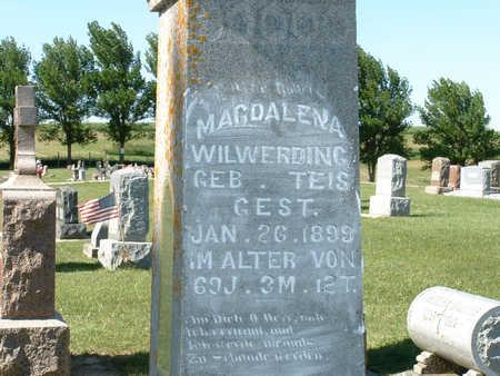 TEIS WILWERDING, MAGDALENA - Shelby County, Iowa | MAGDALENA TEIS WILWERDING