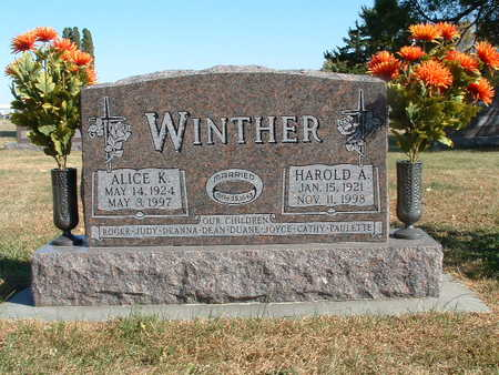 WINTHER, ALICE K. - Shelby County, Iowa | ALICE K. WINTHER