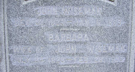 WISEMAN, BARBARA (CLOSE-UP) - Shelby County, Iowa | BARBARA (CLOSE-UP) WISEMAN