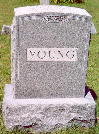 YOUNG (FAMILY STONE), WILLIAM & CHARLOTTE - Shelby County, Iowa | WILLIAM & CHARLOTTE YOUNG (FAMILY STONE)