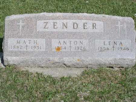 ZENDER, ANTON - Shelby County, Iowa | ANTON ZENDER