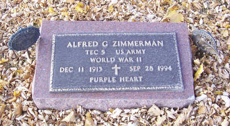 ZIMMERMAN, ALFRED G. (MILITARY) - Shelby County, Iowa   ALFRED G. (MILITARY) ZIMMERMAN