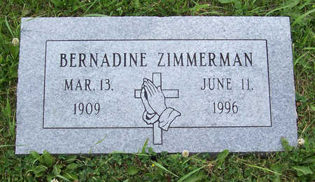 ZIMMERMAN, BERNADINE - Shelby County, Iowa | BERNADINE ZIMMERMAN
