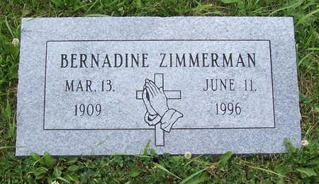 ZIMMERMAN, BERNADINE - Shelby County, Iowa | BERNADINE ZIMMERMAN