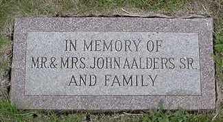 AALDERS, JOHN MRS. SR. - Sioux County, Iowa | JOHN MRS. SR. AALDERS