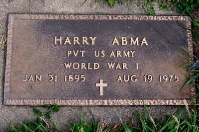 ABMA, HARRY - Sioux County, Iowa | HARRY ABMA