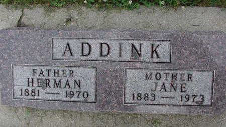 ADDINK, HERMAN - Sioux County, Iowa | HERMAN ADDINK