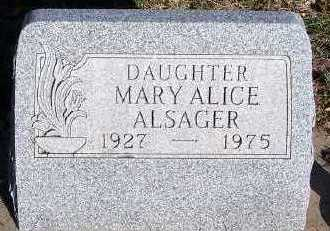 ALSAGER, MARY ALICE - Sioux County, Iowa | MARY ALICE ALSAGER