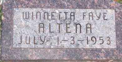 ALTENA, WINNETTA FAYE - Sioux County, Iowa | WINNETTA FAYE ALTENA