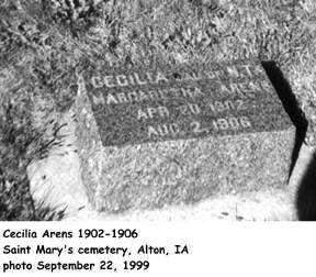 ARENS, CECILIA - Sioux County, Iowa | CECILIA ARENS