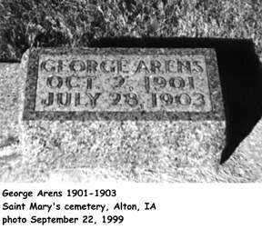 ARENS, GEORGE - Sioux County, Iowa | GEORGE ARENS