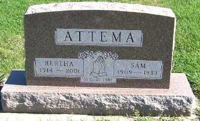 ATTEMA, BERTHA - Sioux County, Iowa | BERTHA ATTEMA