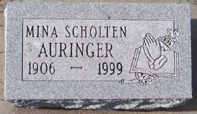 SCHOLTEN AURINGER, MINA - Sioux County, Iowa | MINA SCHOLTEN AURINGER