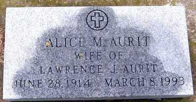 AURIT, ALICE M. (MRS. LAWRENCE) - Sioux County, Iowa | ALICE M. (MRS. LAWRENCE) AURIT