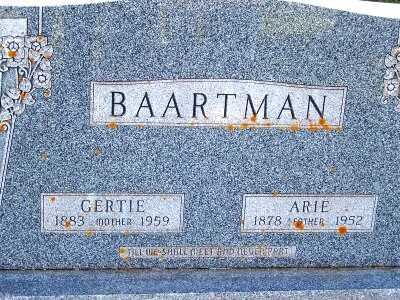 BAARTMAN, GERTIE - Sioux County, Iowa | GERTIE BAARTMAN