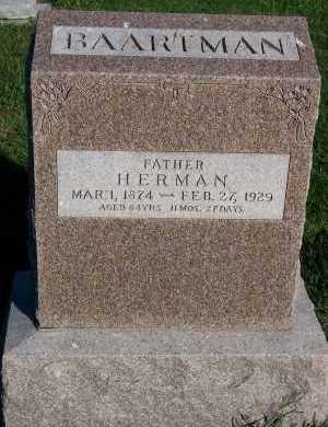 BAARTMAN, HERMAN - Sioux County, Iowa   HERMAN BAARTMAN