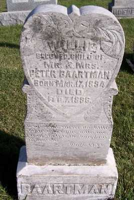 BAARTMAN, WILLIE (SON OF M/M PETER) - Sioux County, Iowa | WILLIE (SON OF M/M PETER) BAARTMAN