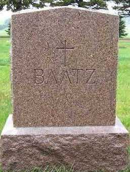 BAATZ, HEADSTONE - Sioux County, Iowa | HEADSTONE BAATZ