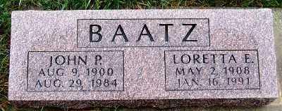 BAATZ, JOHN P. - Sioux County, Iowa | JOHN P. BAATZ