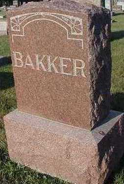 BAKER, HEADSTONE - Sioux County, Iowa | HEADSTONE BAKER