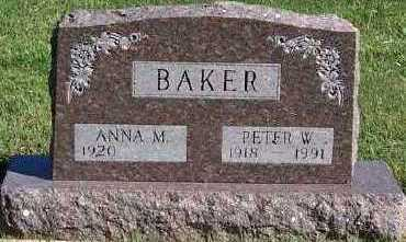 BAKER, PETER W. - Sioux County, Iowa | PETER W. BAKER