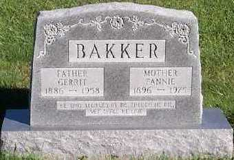 BAKKER, GERRIT - Sioux County, Iowa | GERRIT BAKKER