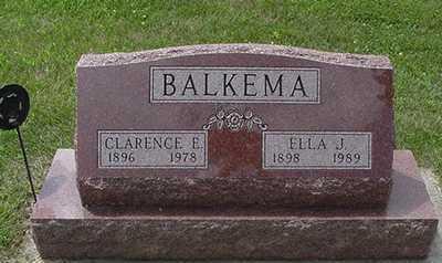 BALKEMA, CLARENCE E. - Sioux County, Iowa | CLARENCE E. BALKEMA
