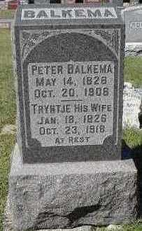 BALKEMA, TRYNTJE (MRS. PETER) - Sioux County, Iowa | TRYNTJE (MRS. PETER) BALKEMA
